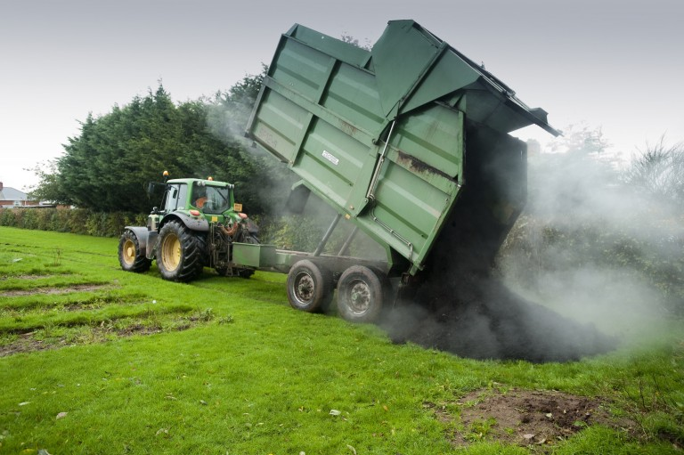 Tractor with Trailer of Compost - Coastal Organics